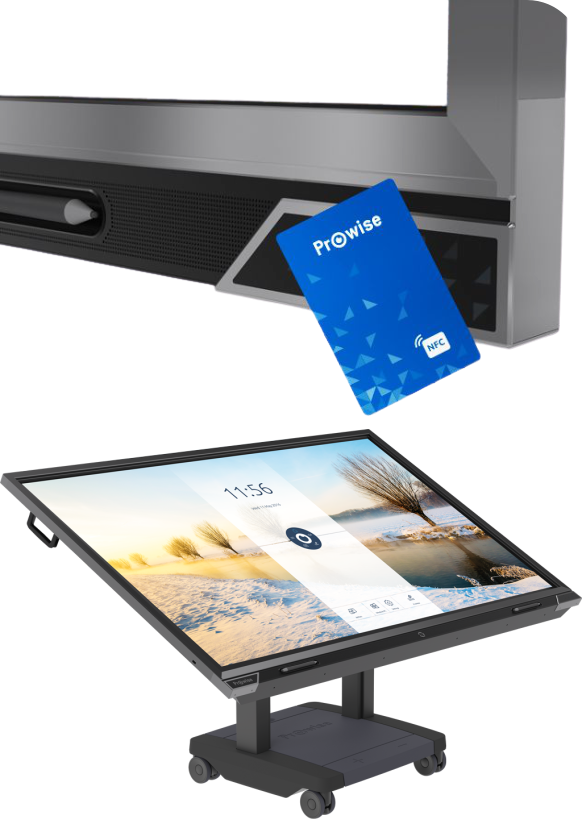 Display Interactiv Prowise 65'' logare card nfc