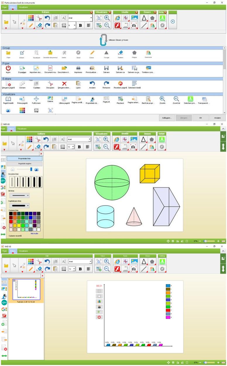 "Pachet interactiv IQboard Expert ST 101"" - Visionary Minds tabla interactiva functii"