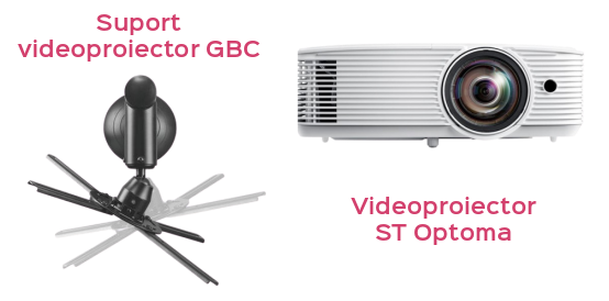 "Pachet Interactiv Foundation ST 82"" Curious Minds videoproiector suport"