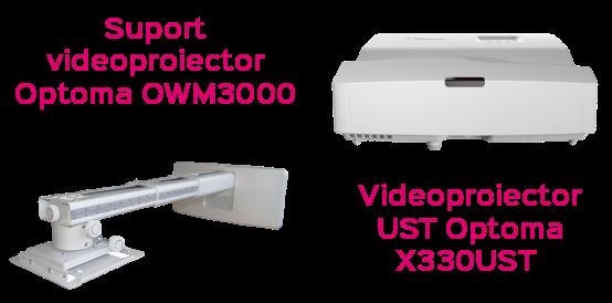 "Pachet Interactiv IQboard Foundation UST 87"" Innovative Teaching videoproiector suport"